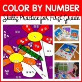 Color By Number #2 (first grade) Color by Number, Addition and Subtraction