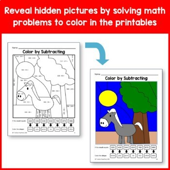 Color by Number #2 (third grade) Color by Multiplication and Division