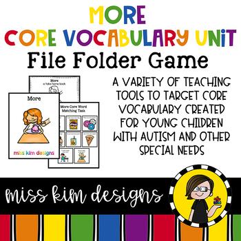 MORE Core Vocabulary Bundle for Special Education Teachers