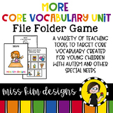 MORE Core Vocabulary Unit for Teachers of Students with Autism & Special Needs