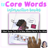 AAC More Core Words Interactive Books to Teach 12 Core Vocabulary to AAC Users