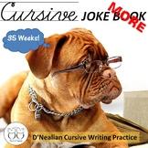 More Cursive Jokes Handwriting Practice Jokebook Distance