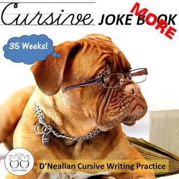 More Cursive Jokes Book 2 - 35 Weeks of Cursive Practice