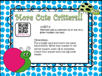 More Cute Critters! (1 & 10 More/Less)
