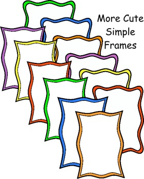 19ee45dc63f More Cute and Simple Frames by Izzy Loves Teachers