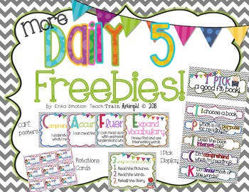 {More} Daily 5 freebies