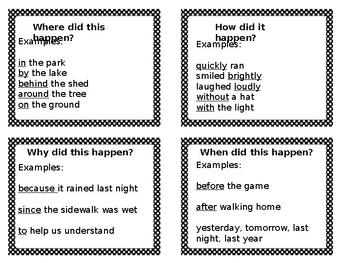 More Descriptive Sentences