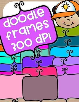 More Doodle Frames - 18 total - clip art