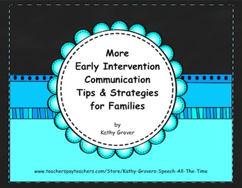 More Early Intervention  Communication Tips & Strategies for Families