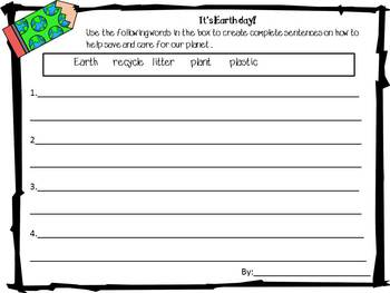 More Earth Day writing activities!  {Freebie}
