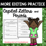 More Editing Sentences - Capital Letters and Periods - No Prep