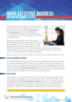 More Effective Business Writing in 7 Simple Steps
