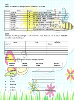 More English Vocabulary Exercises