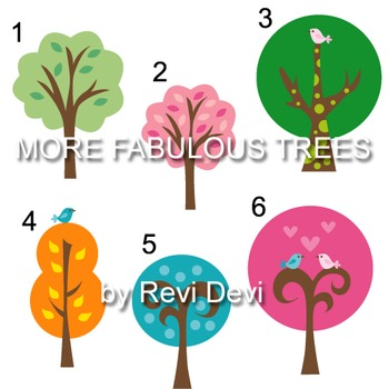 More Fabulous Tress clip art (teacher reasource)