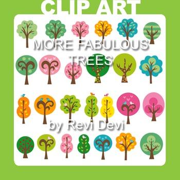 More Fabulous Tress clip art (teacher reasource)