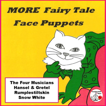 STORY TELLING | MORE FAIRY TALES | Puppet Faces | COLOR  Decorate | Retell | Act