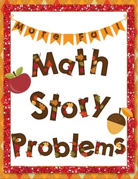 More Fall Math Story Problems