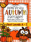 More Fall Passages: CCSS Aligned Leveled Passages & Activities A - I BUNDLE