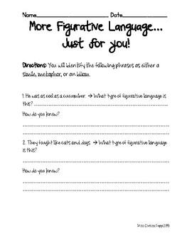 More Figurative Language Practice!