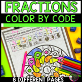 More Fractions Color by Code: Early Finishers, Morning Work