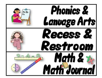 More Free Classroom Management Signs