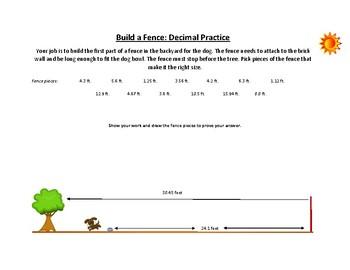 More Fun Decimal Worksheets