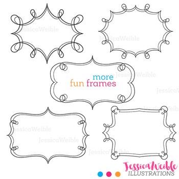 More Fun Frames Cute Digital Clipart, Frame Graphics