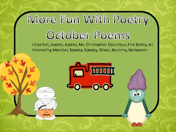 More Fun With Poetry October Poems