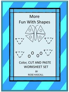 Shapes-Set 2 Black Line- More Fun With Shapes Activities for Centers