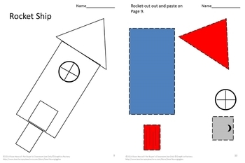 Shapes Set 2,Cut and Paste Activities,Special Education,Preschool,Math Center