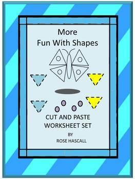 Shapes Set 2 Cut and Paste Fine Motor Activities Special Education Preschool