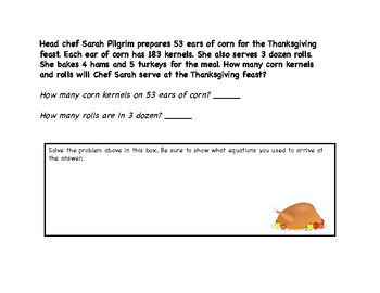 More Funky, Fun Thanksgiving Word Problems