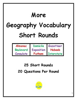 More Geography Vocabulary Short Rounds