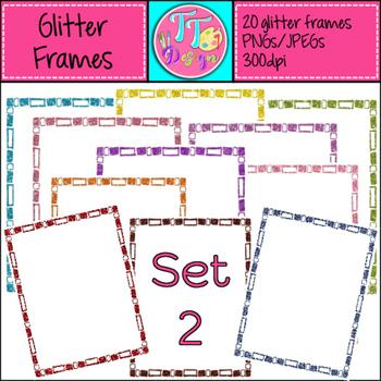 Glitter Frames Set 2 Clip Art CU OK