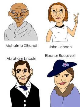 More Great Thinkers Clip Art {Nelson Mandela Helen Keller Mark Twain JFK Jr.}