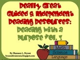 Guided Reading Bookmarks Volume 3