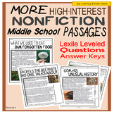 More High-Interest Nonfiction Passages (Middle School)
