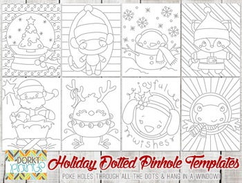 More Holiday Dotted Pin Hole Art Templates