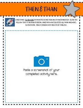 More Homophones Practice - Digital Notebook