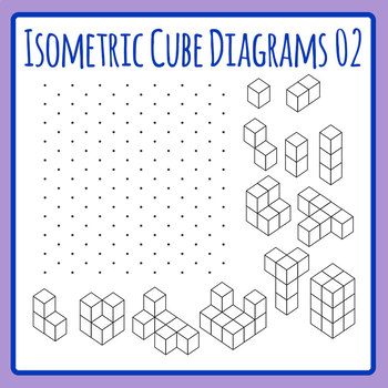 More Isometric Cubes - Diagram Learning Tool Clip Art Set for Commercial Use