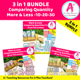 More & Less Comparing Quantities To 30 BUNDLE