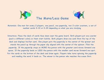 More - Less Game