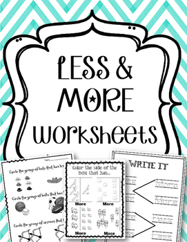 More & Less. Greater Than & Less Than. Worksheets. Review.