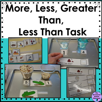 More, Less, Greater than, Less than (Quantitative) Task (Autism and Special Ed.)