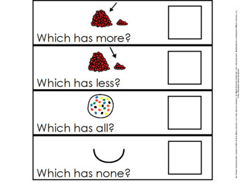 More, Less, Greater Than, Less Than Quantitative Task for Autism and Special Ed