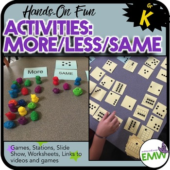 More Less Same Comparing Activities for Kindergarten by Evil Math Wizard