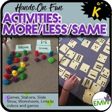 More Less Same Comparing Activities for Kindergarten