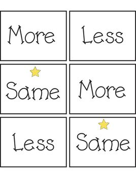 More / Less / Same Game