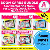 More, Less, Same & None BOOM Cards BUNDLE For Distance Learning