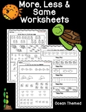 More, Less & Same Worksheets